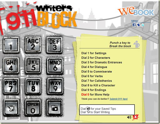writing tools - 911 Writers Block