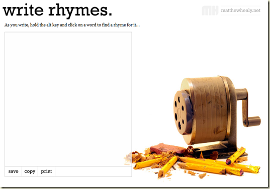 writing tools - Write Rhymes