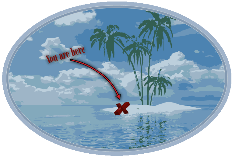 "Island Symbol - ""You are here"""