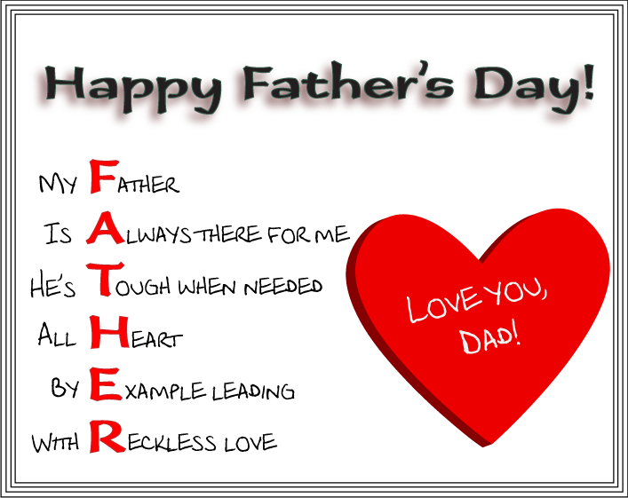 To all the great dads out there: Happy Father's Day ...