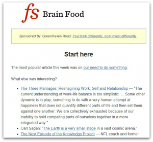 BrainFoodNewsletter