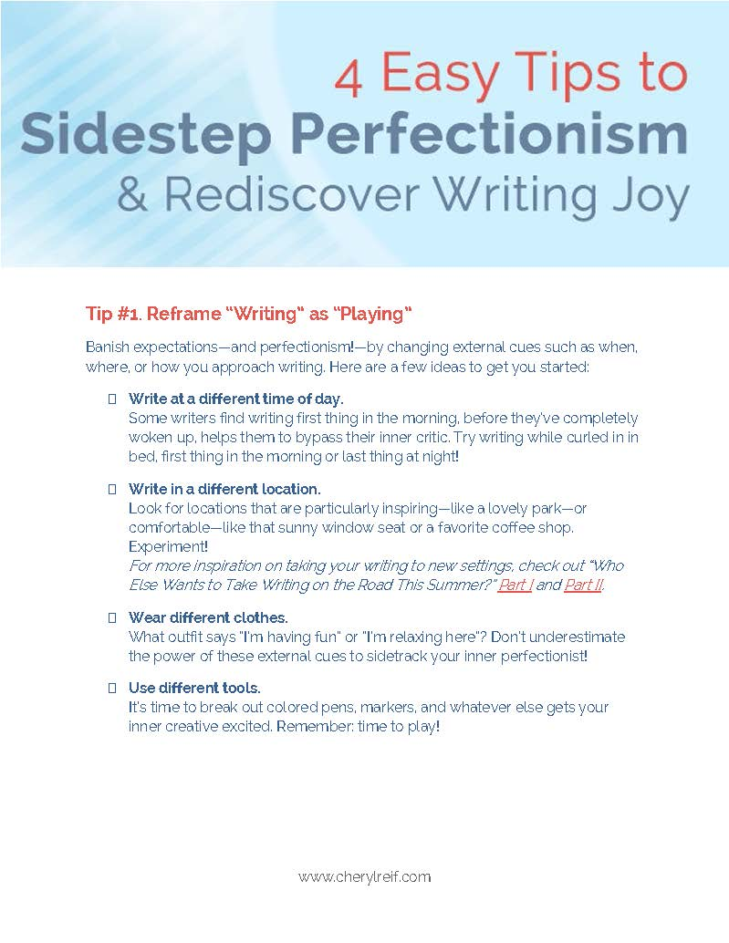 Download: 4 Easy Tips to Sidestep Perfectionism